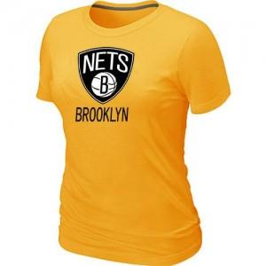T-Shirt Primary Logo Mujer NBA Brooklyn Nets Big & Tall Amarillo
