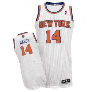 Camiseta NBA Authentic Anthony Mason #14 Home Blanco - New York Knicks - Hombre