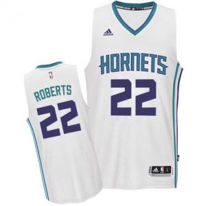 Camiseta Swingman Brian Roberts #22 Charlotte Hornets Home Blanco - Hombre