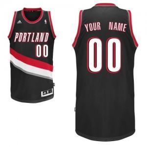 Adolescentes Camiseta Swingman Personalizadas Portland Trail Blazers Adidas Road Negro