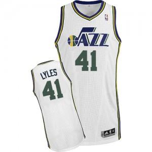 Camiseta NBA Home Utah Jazz Blanco Authentic - Hombre - #41 Trey Lyles