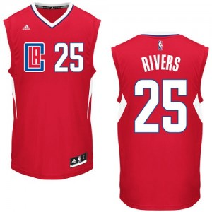 Camisetas Baloncesto Hombre NBA Los Angeles Clippers Road Authentic Austin Rivers #25 Rojo